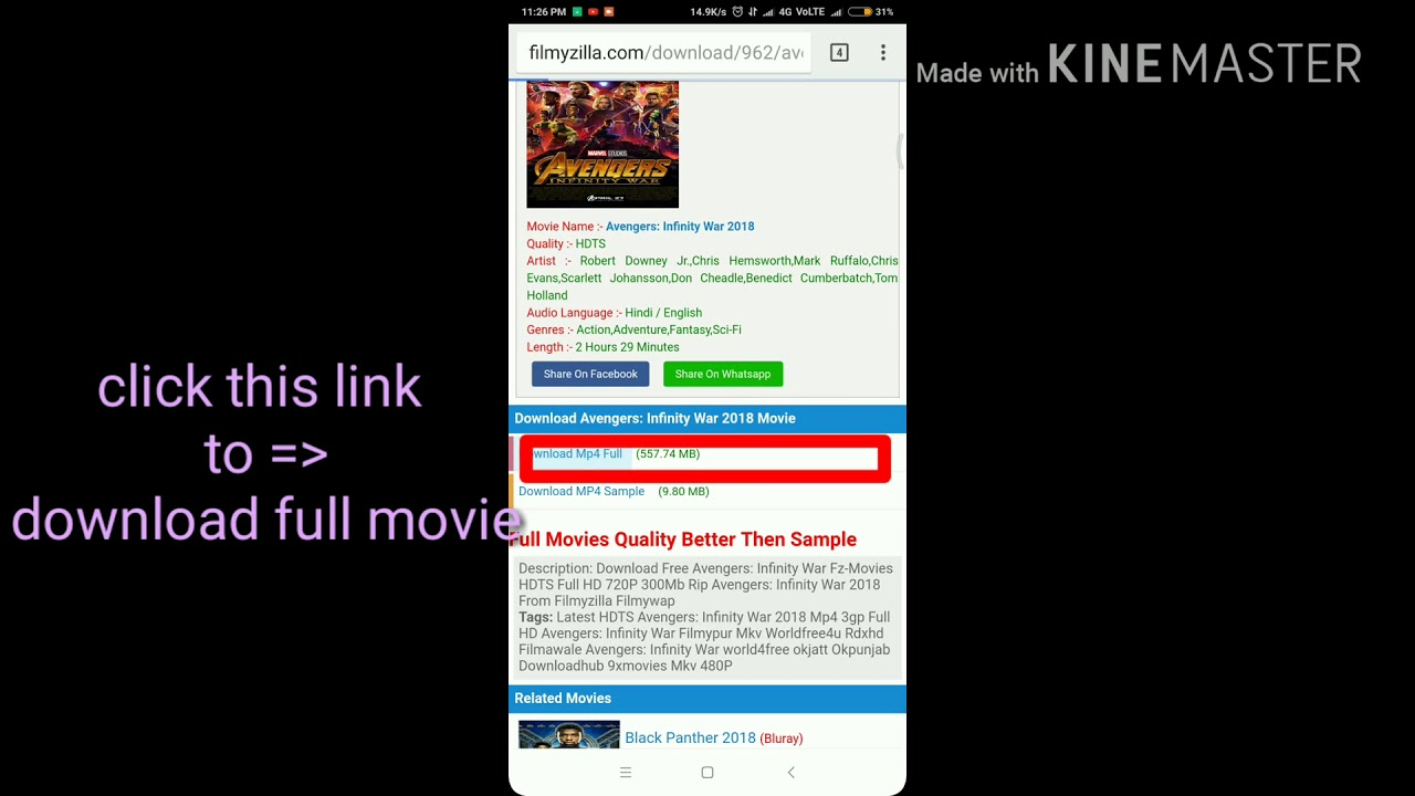 avengers infinity war full movie download 720p filmyzilla