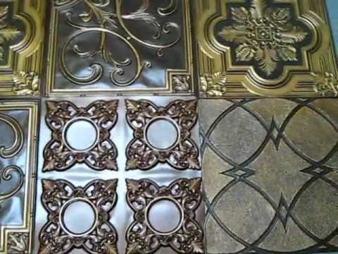 Decorative Ceiling Tiles for Wall Art & Decor - YouTube
