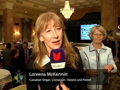 Interview with Loreena McKennitt - IDI Toronto Friendship Dinner 2009 (1/2)