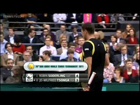 2011 ABN AMRO World Tennis Tournament FINAL SODERLING vs TSONGA set1(2/2)