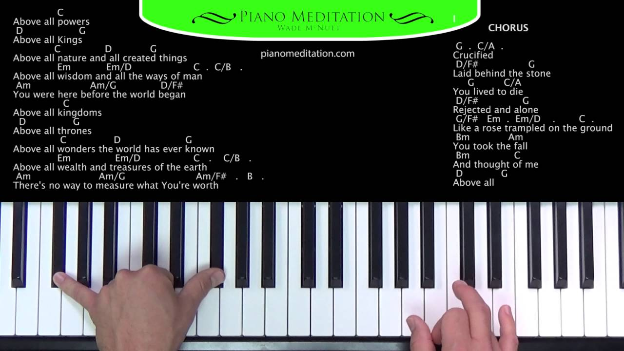 Above all michael w smith how to play on the piano youtube hexwebz Images