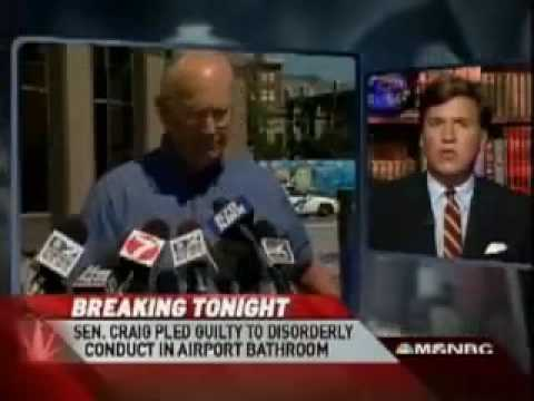 Tucker Carlson discusses Larry Craig and bathroom whoopie