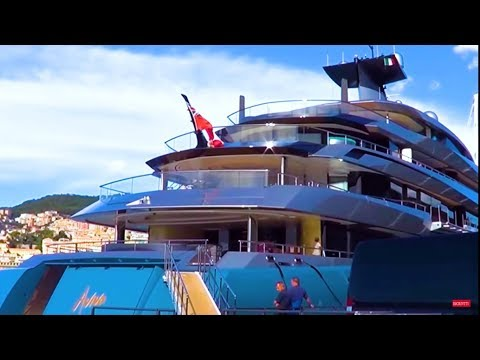 98m superyacht Aviva (UK billionaire, Joe Lewis)