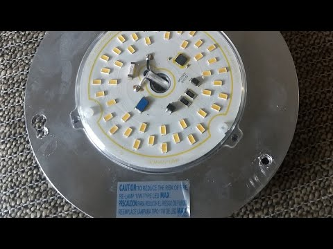 Blinking Flashing Led Light On Ceiling Fan Youtube