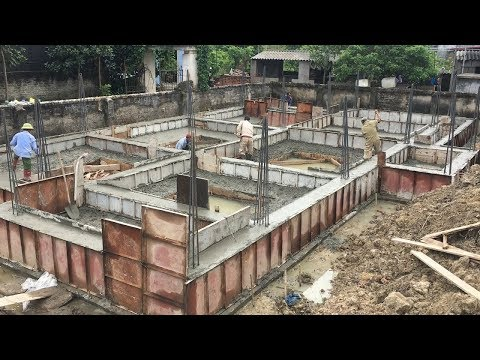 Construction House Step Step By Step, How To Build Foundation From Ready-Mixed Concrete