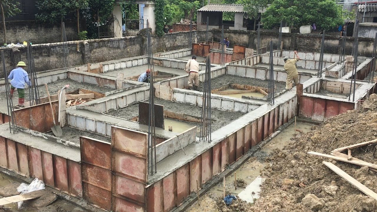 Construction House Step By How To Build Foundation From
