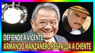 Armando Manzanero sale a defender a Vicente Fernandez sobre sus comentarios homofobicos