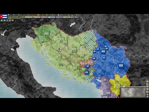 Yugoslav Wars Timelapse 3: Croatia strikes back