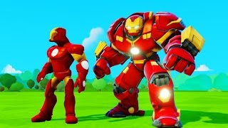 Мультик игра для детей Халкбастер, Железный человек и Тачки Машинки Дисней Iron Man & Disney Cars