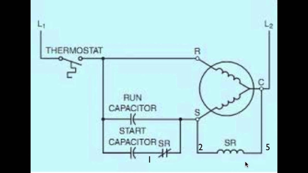 diagram of the potential relay part 2 rh youtube com  copeland potential relay wiring diagram