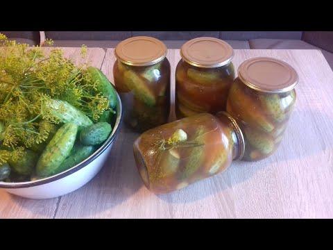 Огурцы с кетчупом Чили на зиму. Рецепт проверенный и надёжный.