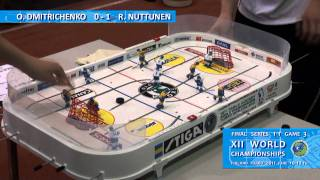 Настольный хоккей-Table hockey-WCh-2011-DMITRICHENKO-NUTTUNEN-Game3-com-SPIVAKOVSKY
