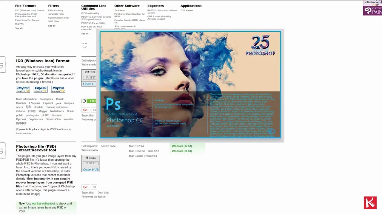 How to create  ico  cur windows icon with Photoshop CC