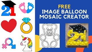 Create Balloon Mosaic from Images   FREE Template   DIY   How To Make   Tutorial