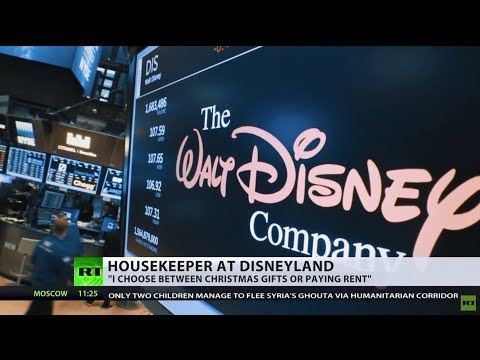 Mickey Mouse money: Disneyland workers claim not being paid living wage