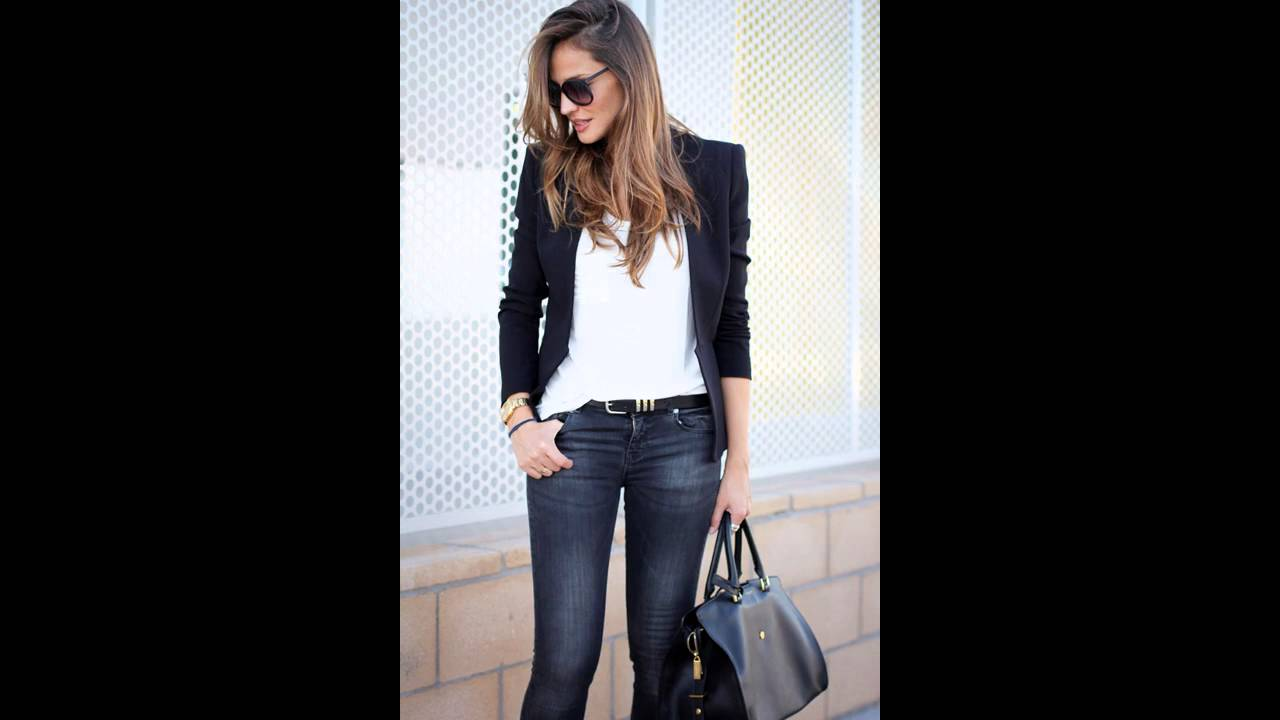 Outfits con jeans y blazer - YouTube