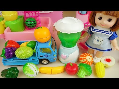 Baby Doli and fruit vegetable juice maker toys baby doll pla