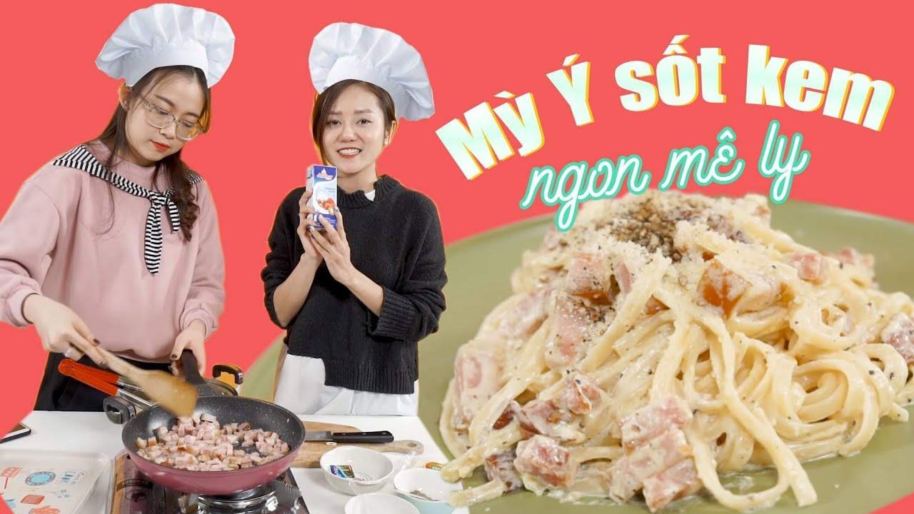 Vào Bếp Cùng Hải Yến : Mỳ Ý Sốt Kem ngon đến mức vét sạch cả đĩa !