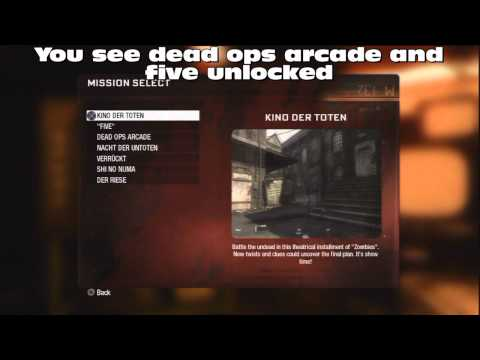 Call Of Duty Black Ops Tricks Unlock All Zombie Ma