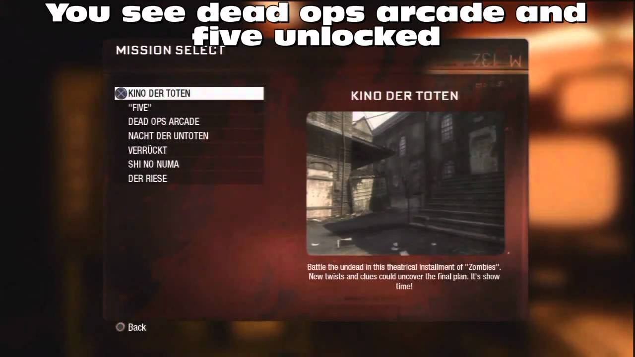 Call Of Duty Black Ops Tricks unlock all zombie ma - YouTube Black Ops Maps Zombies on