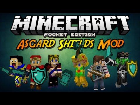 Minecraft PE 0.10.X ModScript | Asgard Shields Mod V6.0 (Español)