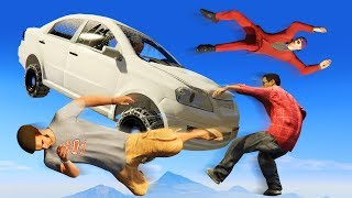 SMASH THE CRAZY RUNNERS! (GTA 5 Funny Moments)