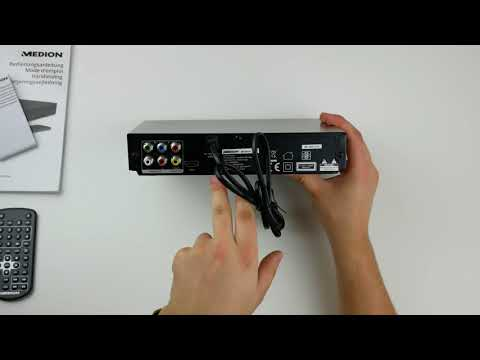 Medion DVD Player E71021 Unboxing & Test german/Deutsch