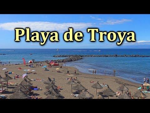 PLAYA DE LAS AMERICAS TENERIFE – Beach Troya 4K