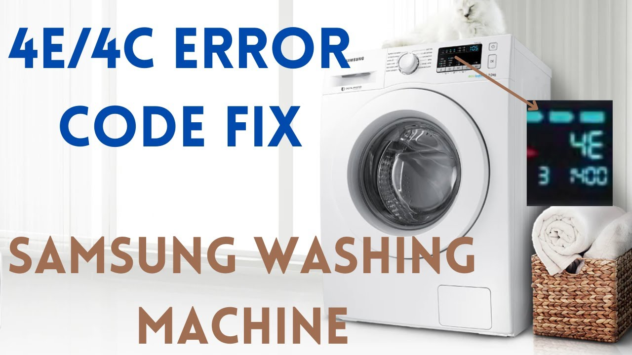 Samsung washing machine 4E or 4C error | Problem with water supply