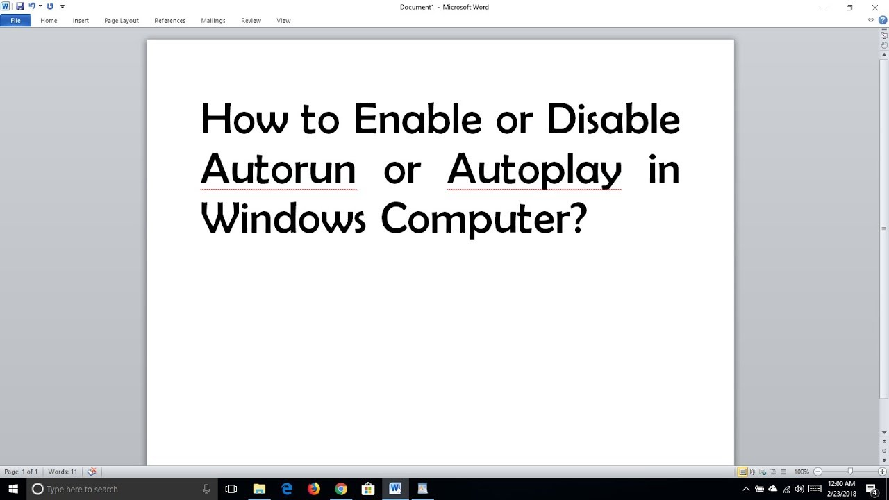 How to disable autorun programs 42
