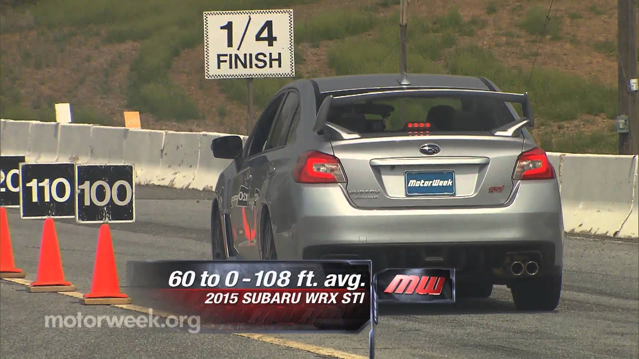 MotorWeek  Road Test 2015 Subaru WRX STI  YouTube