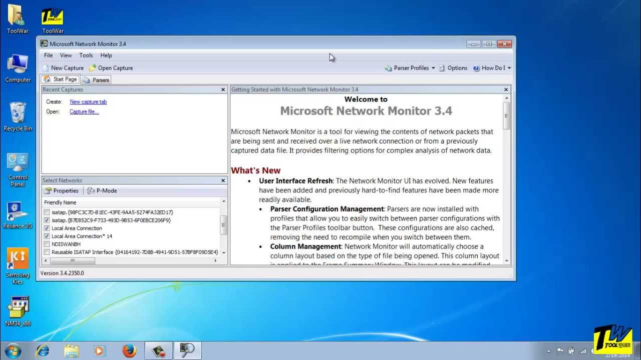 Windows Network Monitor : How to install and use microsoft network monitor netmon