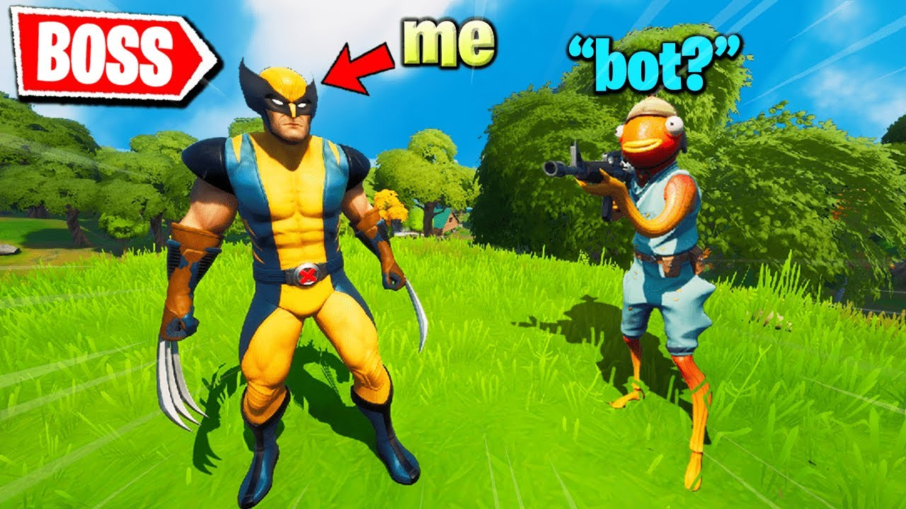 I Pretended to be WOLVERINE in Fortnite (kind of)