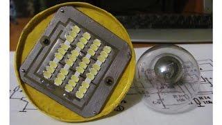 Светодиодная лампа своими руками (10Вт)(Видео к схеме на сайте Паяльник: http://cxem.net/house/1-382.php., 2015-05-26T11:47:29.000Z)