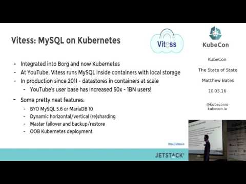 Day 1, The State of State; KubeCon EU 2016