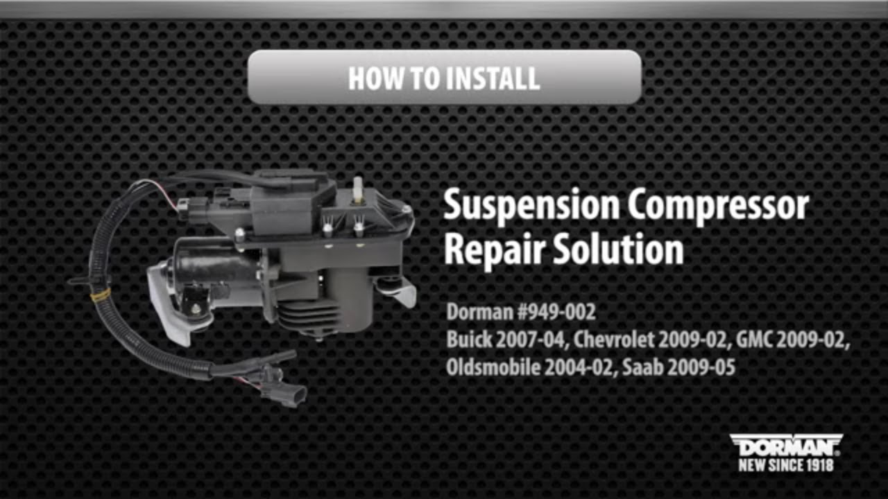 suspension air compressor installation