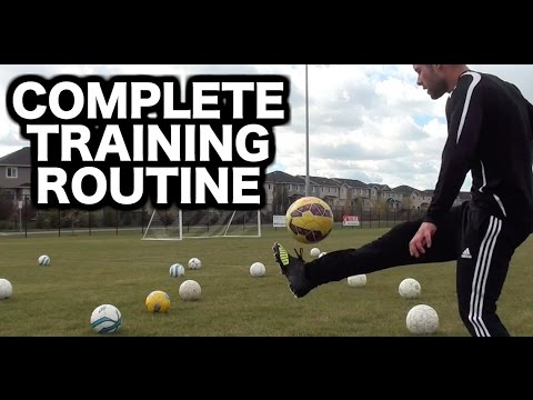 a5816c8cf Full Soccer Training Session ▻ Soccer drills to do by yourself ▻ How to practice  soccer alone