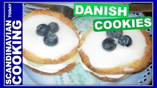 How To Make Danish Medal Cookies With Pastry Cream Filling- Medaljer Kage Opskrift