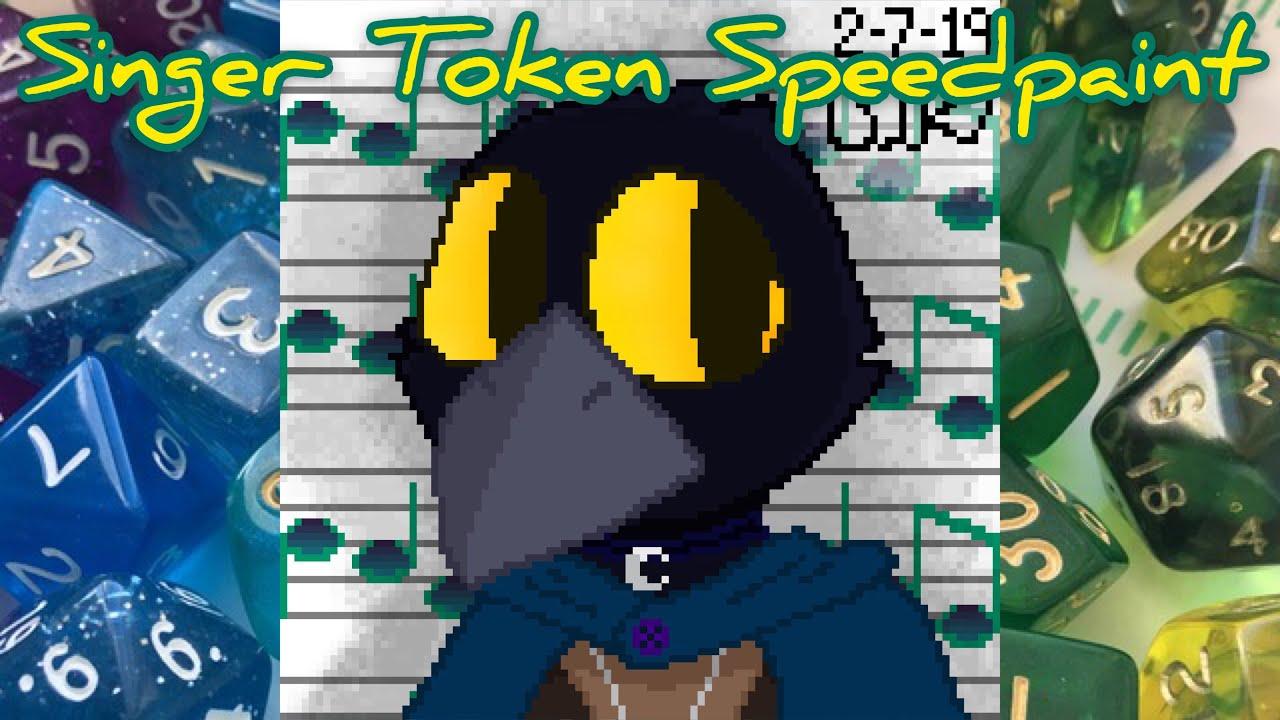 Singer Token Speedpaint