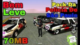 NOVO PACK DA POLÍCIA DE SÃO PAULO V2 PESANDO 70MB!!MOD SUPER LEVE - GTA SA ANDROID