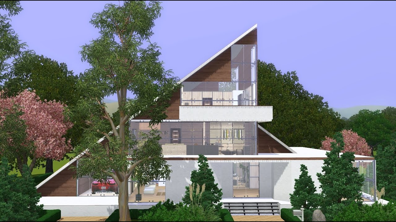 The sims 3 house modern a frame family home youtube for What is a frame home