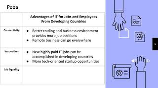 Impact of Information Technology on Jobs in Developing Countries