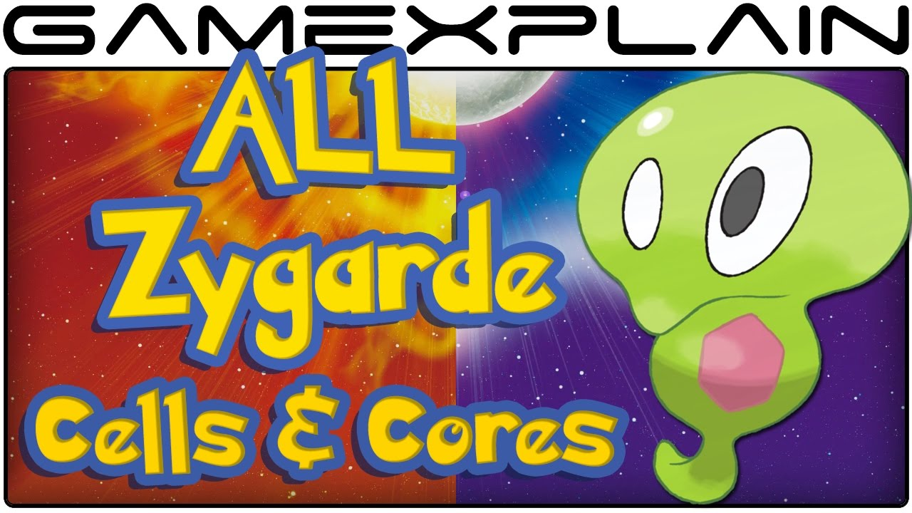 All Zygarde Cell & Core Locations in Pokémon Sun & Moon (100 ...