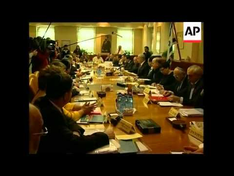 Israeli cabinet meets as Jewish settlers protest outside