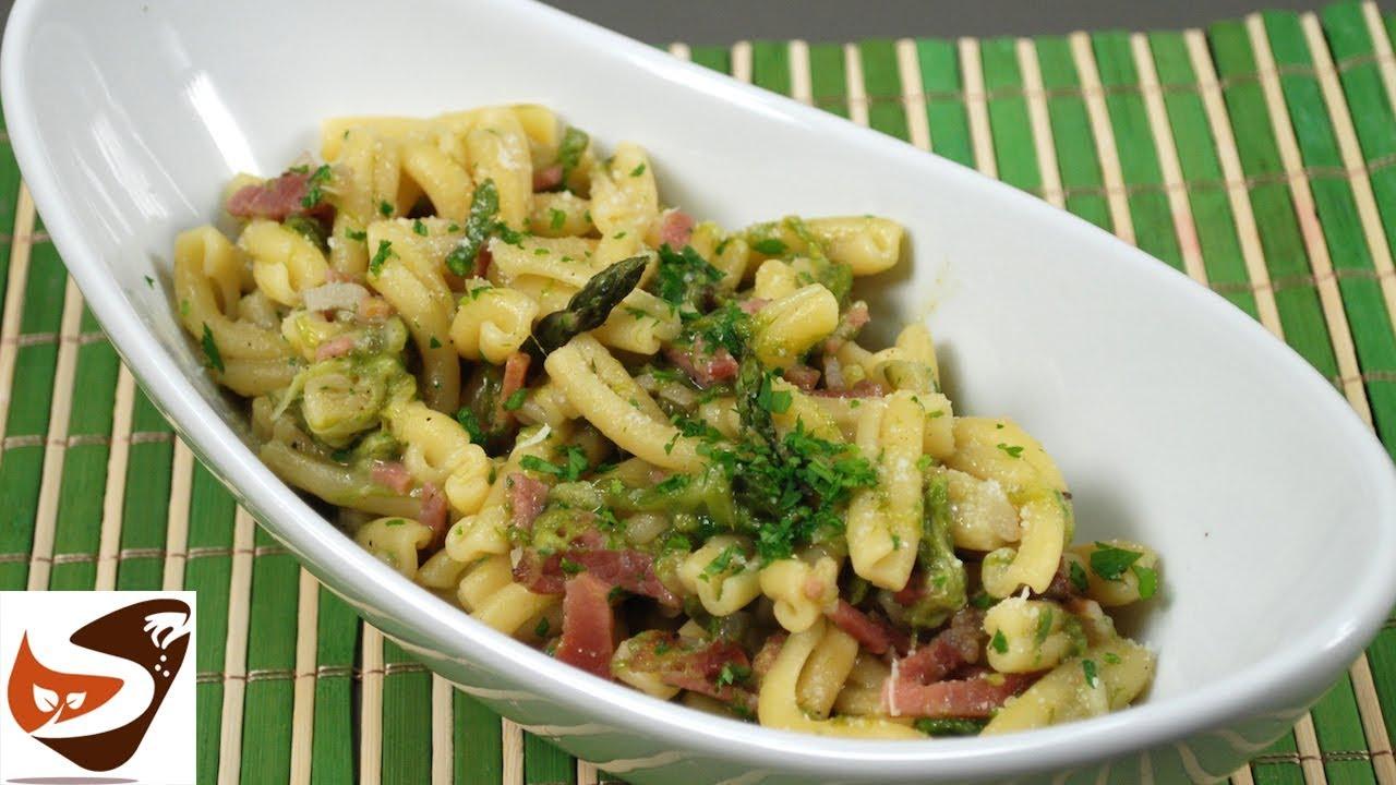 Pasta con asparagi selvatici e speck facile e gustosa for Cucina italiana primi piatti