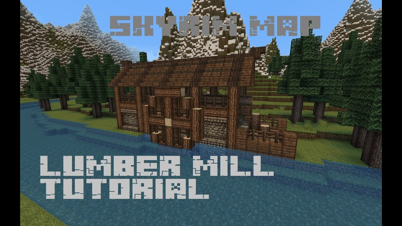 Skyrim map lumber mill tutorial youtube for Best house designs skyrim