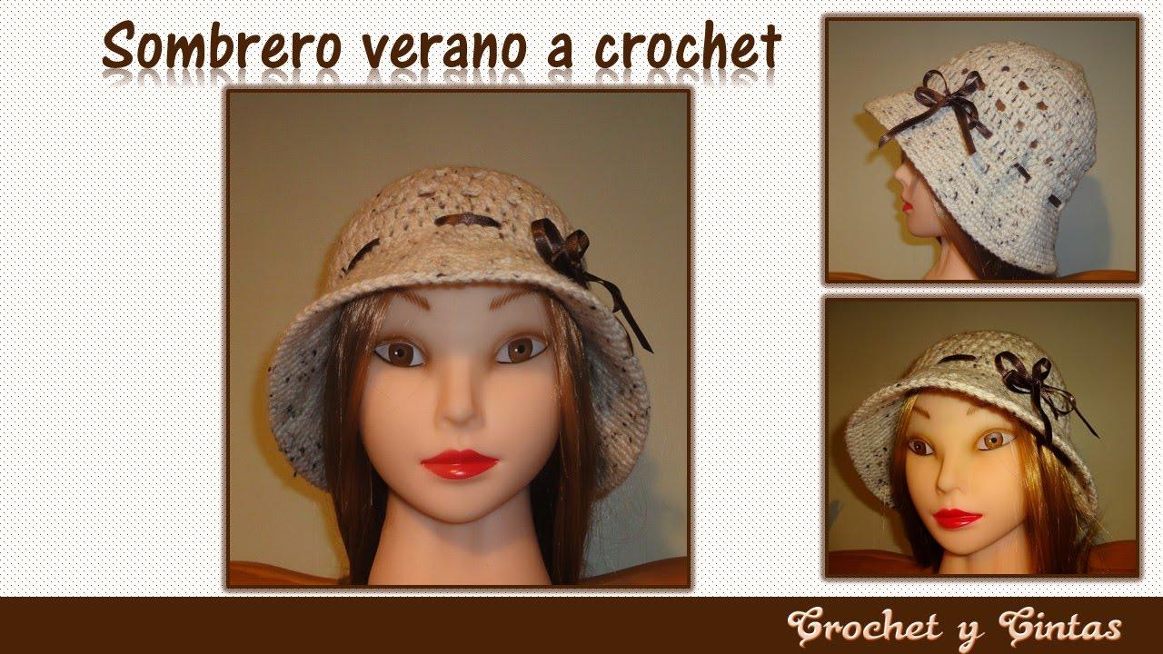 Sombrero verano tejido a crochet para mujeres (rápido y fácil de ...