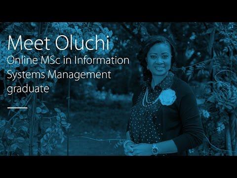 Meet Oluchi — Online MSc in Information Systems Management graduate