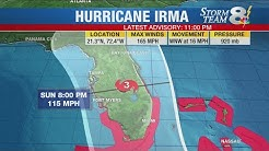 Manatee, Sarasota counties under hurricane watch, South Florida under hurricane warning