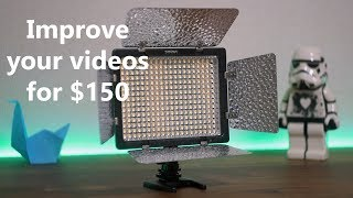 Video lighting setup for $150